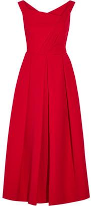Preen by Thornton Bregazzi - Finella Pleated Stretch-crepe Midi Dress - Red $1,577 thestylecure.com