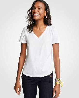 Ann Taylor Pima Cotton V-Neck Tee