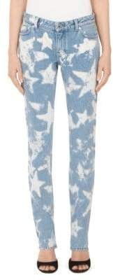 Givenchy Star Bleached Skinny Jeans