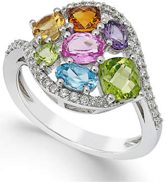 Macy's Multi-Stone Ring (2-1/3 ct. t.w.) in 14K White Gold