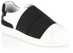 Ash Clip Textured Slip-On Sneakers $190 thestylecure.com
