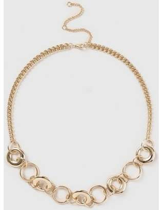 Dorothy Perkins Womens Gold Look Chunky Link Chain Necklace
