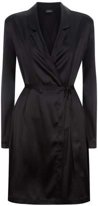 La Perla Silk Reward Black Short Silk Robe