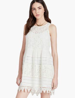 Lucky Brand TEXTURED EYELET DRESS