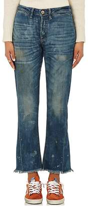NSF Women's Aero Distressed Crop Flared Jeans - Dk. Blue Size 24