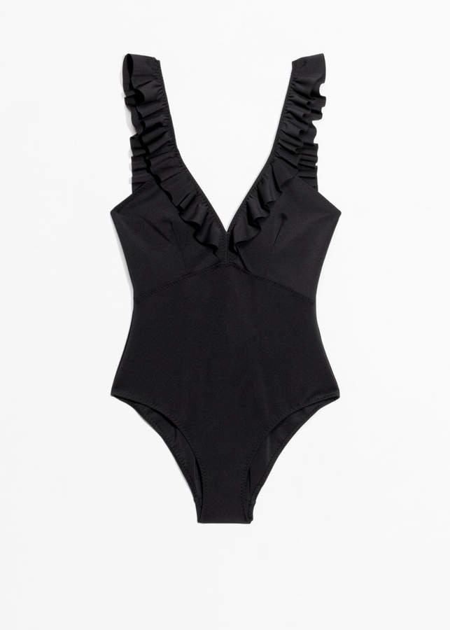 Ruffle Plunge Swimsuit