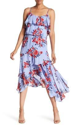 Parker Printed Handkerchief Hem Dress
