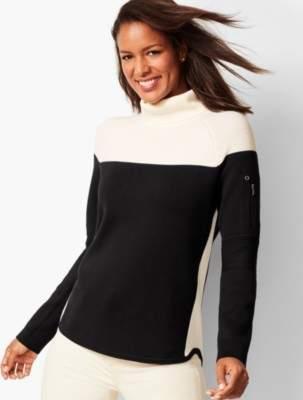 Talbots Colorblocked Turtleneck Sweater