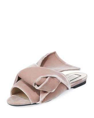 No.21 No. 21 Velvet Knotted Flat Sandal, Rosa
