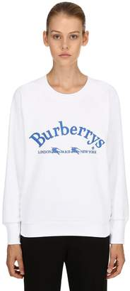 Burberry Logo Printed Cotton Jersey Sweatshirt