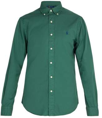 Polo Ralph Lauren Logo Embroidered Cotton Shirt - Mens - Green