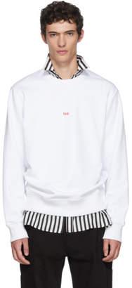 Helmut Lang White Paris Taxi Sweatshirt
