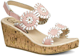 Jack Rogers Girls' Miss Luccia Leather Sandal