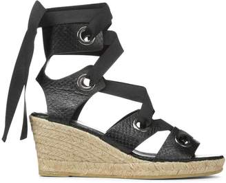 Donald J Pliner SEVILLE, Snake Leather Espadrille Wedge Sandal