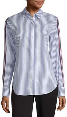 WORTHINGTON Worthington Womens Long Sleeve Button-Front Shirt-Tall