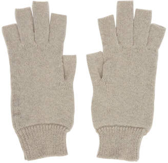 Rick Owens Off-White Fingerless Gloves