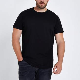 River Island Big and Tall black slim fit T-shirt