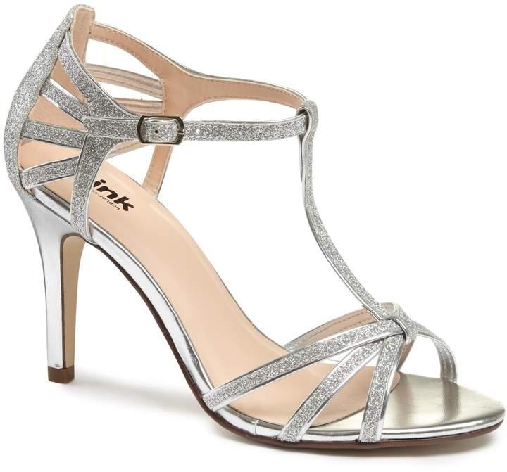 Silver Strappy Heels - ShopStyle Australia