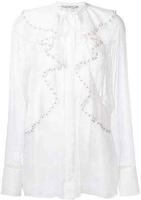 Givenchy pearl ruffled blouse