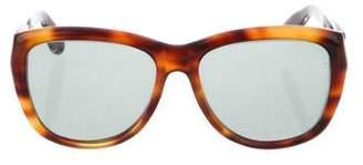 Donna Karan Tortoiseshell Oversize Sunglasses