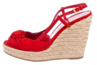 Prada Suede Slingback Sandals Red Suede Slingback Sandals