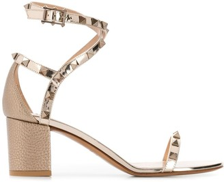 Valentino Rockstud grainy leather 60mm sandals
