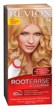 Revlon Root Erase by ColorSilk Ammonia-Free Permanent Color Medium Blonde 74