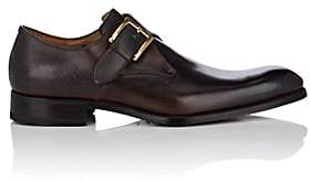 Harris Men's Burnished Leather Monk-Strap Shoes - Brown
