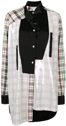 Loewe deconstructed asymmetric shirt