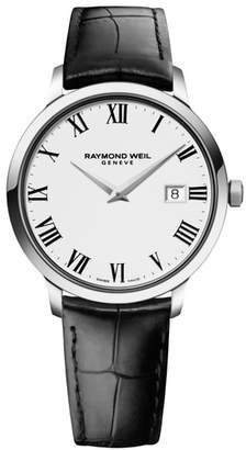 Raymond Weil Toccata Leather Strap Watch, 39mm