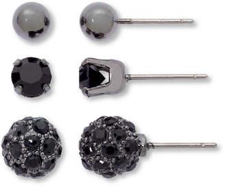 MIXIT Sensitive Ears Black 3-pr. Earring Set