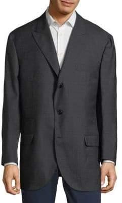 Brunello Cucinelli Solid Wool Suit Jacket
