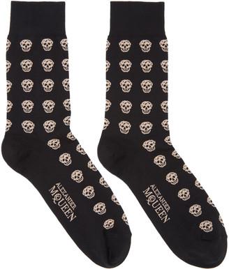 Alexander McQueen Black Skull Socks $70 thestylecure.com