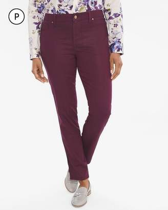 So Slimming Petite Coated Girlfriend Ankle Jeans