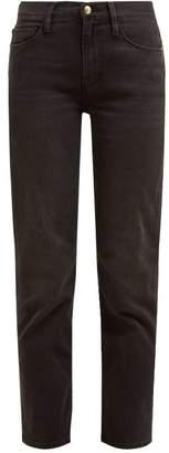 Frame Le Nouveau Straight Leg Cropped Jeans - Womens - Black