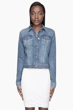 J Brand Faded blue classic denim Jacket