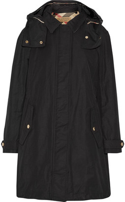 Burberry - Hooded Cotton-blend Canvas Coat - Black $995 thestylecure.com
