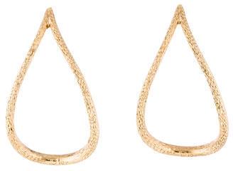 Christian Dior Christian Dior Textured Open Teardrop Earrings