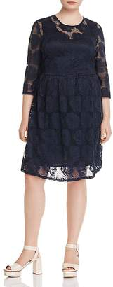 Junarose Floral Lace Fit-and-Flare Dress