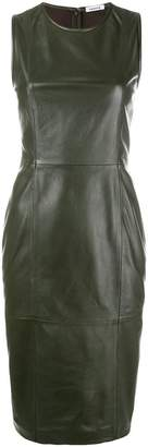 P.A.R.O.S.H. leather panel dress