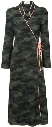 The Upside camouflage wrap dress