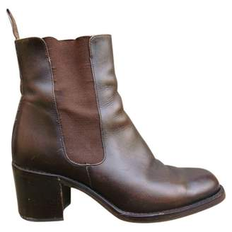 Free Lance Brown Leather Ankle boots