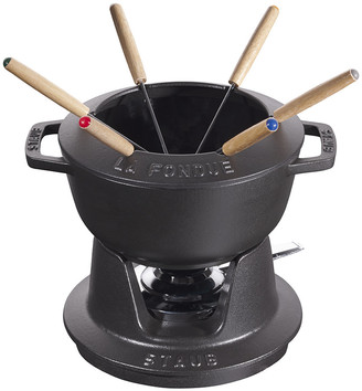 Staub Fondue Set with 6 Forks - Black
