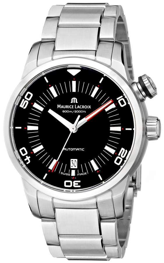 """Maurice Lacroix Men's """"Pontos"""" Stainless Steel Automatic Watch"""