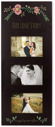 Cathy's Concepts Floral Wedding Black Multi-Photo Frame