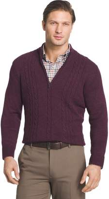 Van Heusen Big & Tall Regular-Fit Cable-Knit Quarter-Zip Sweater