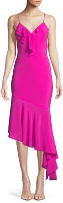 Milly Sleeveless Asymmetric Petal Slip Dress