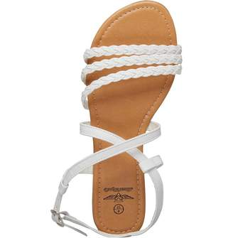 Board Angels Womens Plaited Sandals White