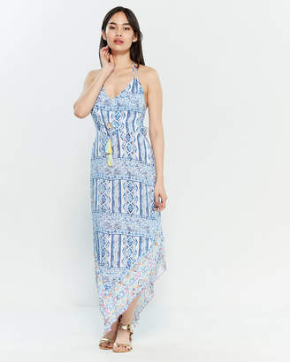 Surf.Gypsy Printed Asymmetrical Maxi Dress Swim Cover-Up
