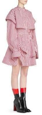 Alexander McQueen Patchwork Stripe Shirtdress